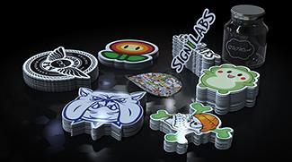 Voorgevormde stickers in verschillende kleuren
